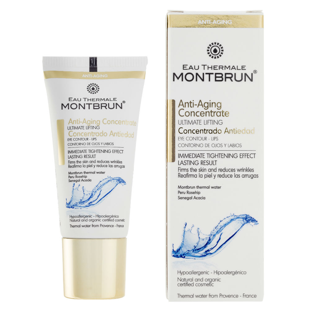 Distributeur Montbrun anti-aging serum met thermaal water