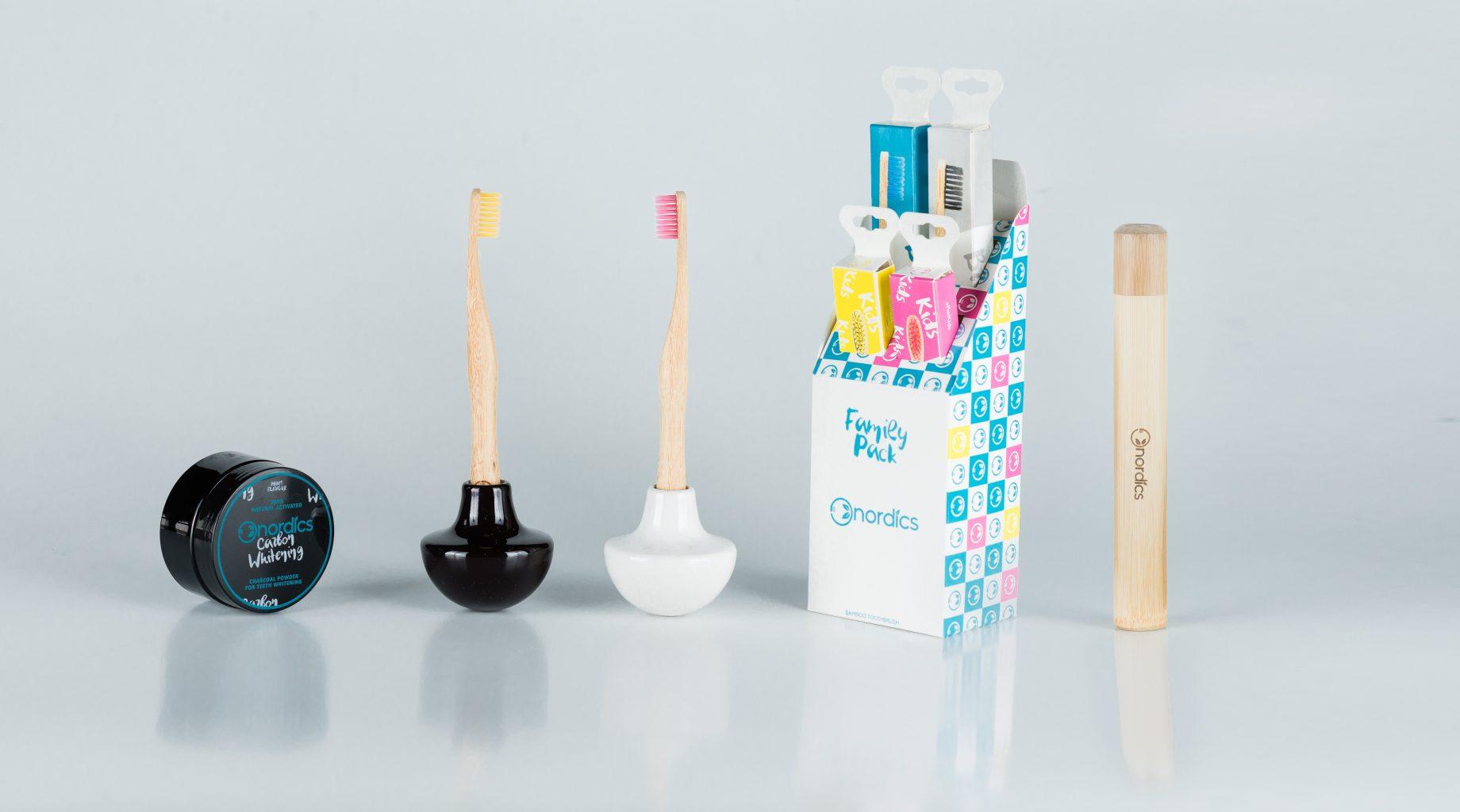 Nordics bamboo tandenborstels - afbreekbare perfectie