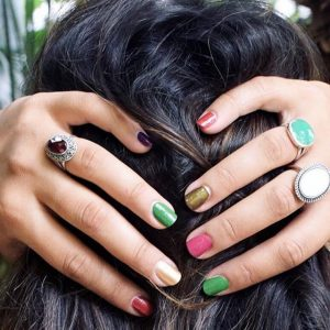 boho natuurlijke nagellak