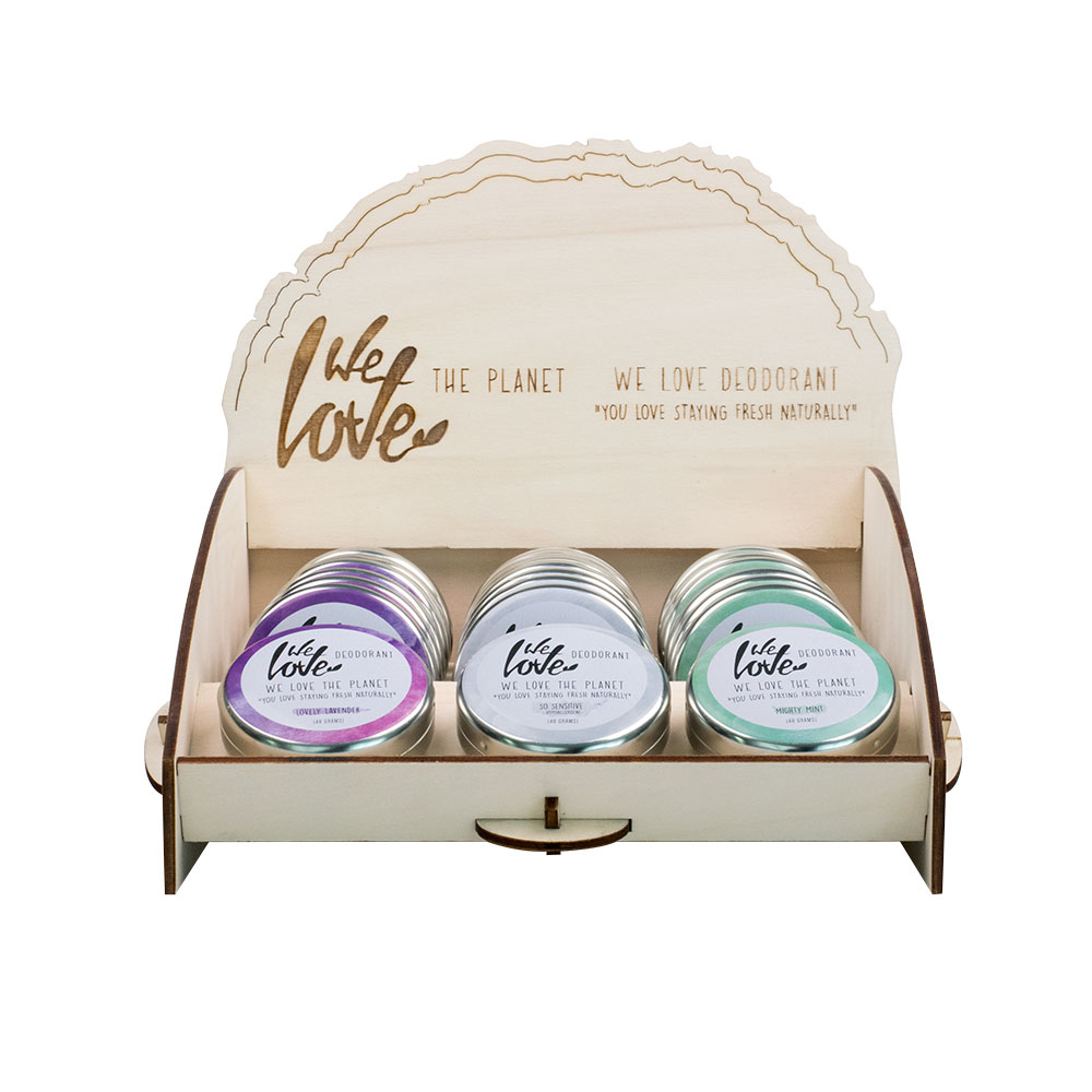 We Love The Planet Display natuurlijke deodorant groothandel