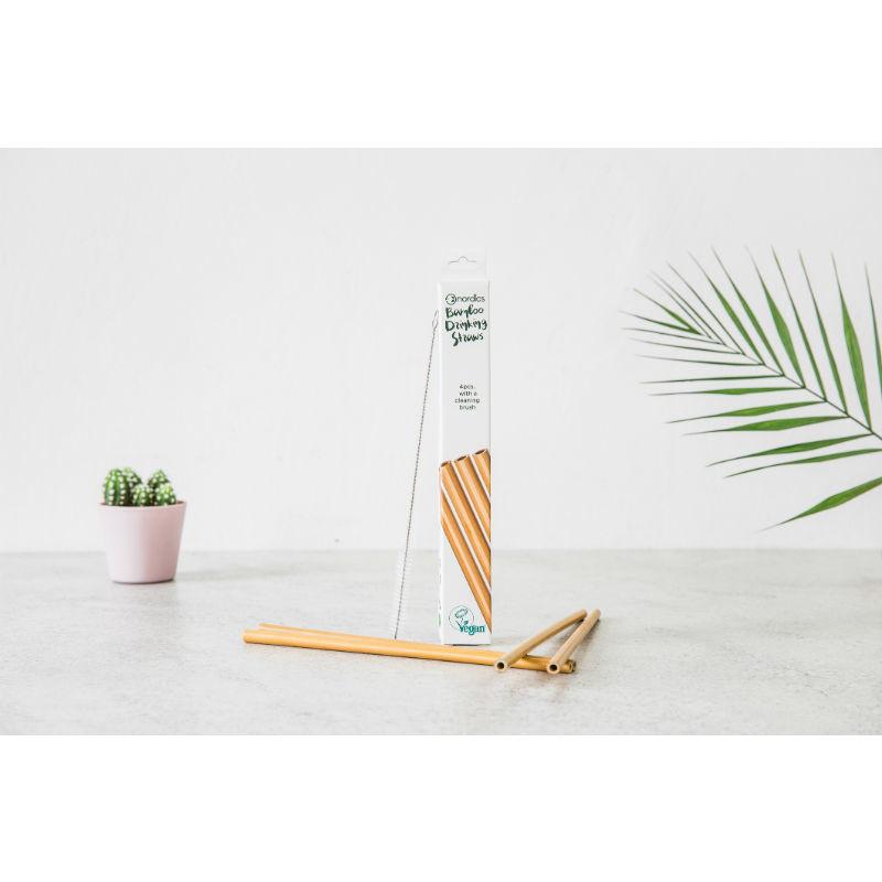Distributeur Nordics bamboe rietjes, kindertandpasta en plasticvrije wattenstaafjes