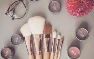 Boho hippe natuurlijke make-up